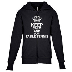 table tennis1 Youth Zipper Hoodie | Artistshot