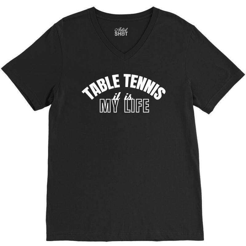 Table Tennis V-neck Tee | Artistshot