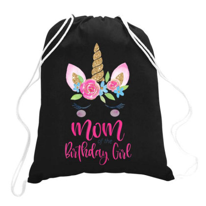 Womens Unicorn Mom Of The Birthday Girl Shirt Matching Party Tee Drawstring Bags Designed By Time5803