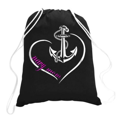 Womens U.s. Navy Shirt Original Proud Navy Mom T Tshirt Drawstring Bags Designed By Time5803