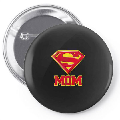 Mom T Shirt, Womens Super Mom T Shirt Pin-back Button Designed By Time5803