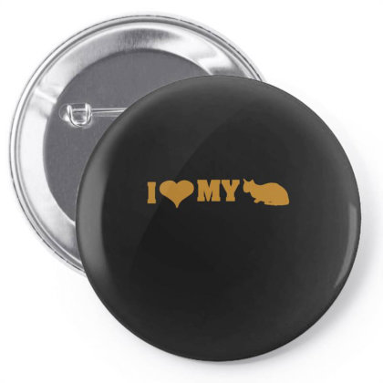I Love My Cat  Funny T Shirt Pin-back Button Designed By Gnuh79