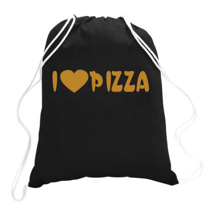 I Love Pizza  Funny T Shirt Drawstring Bags Designed By Gnuh79