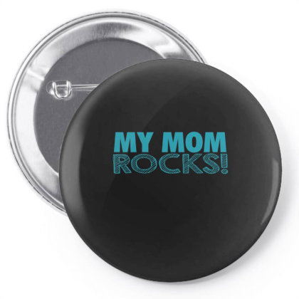 My Mom Rocks  Funny T Shirt Pin-back Button Designed By Gnuh79