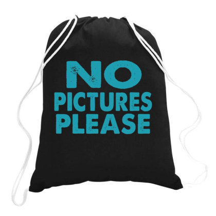 No Pictures Please  Funny T Shirt Drawstring Bags Designed By Gnuh79