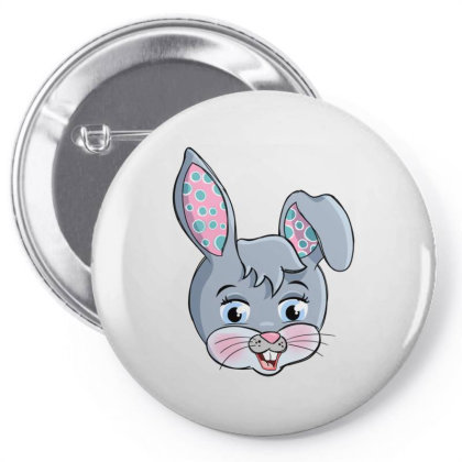 Colorful Easter Rabbit Pin-back Button Designed By Honeysuckle