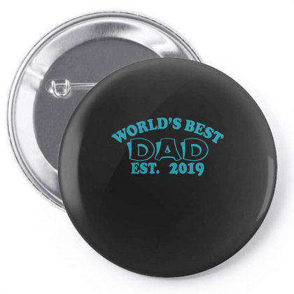 World Is Best Dad Est. Pin-back Button Designed By Gnuh79