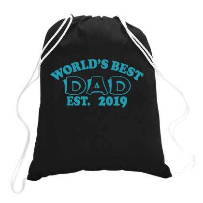 World Is Best Dad Est. Drawstring Bags Designed By Gnuh79