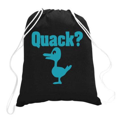 Quack Drawstring Bags Designed By Gnuh79
