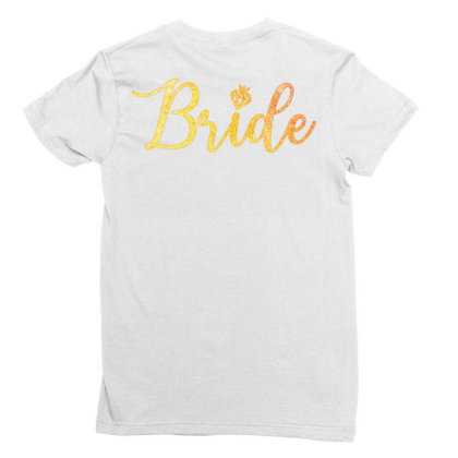Bride Ladies Fitted T-shirt Designed By Akin