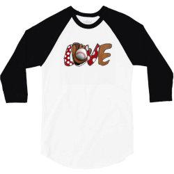 Love Baseball 3/4 Sleeve Shirt | Artistshot