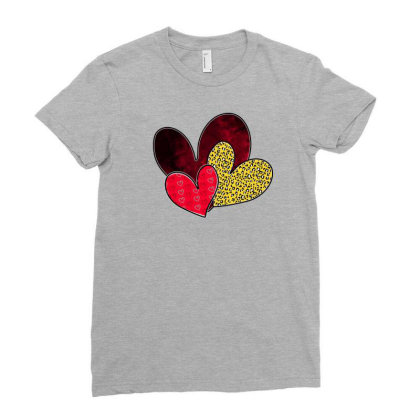 Love Hearts Ladies Fitted T-shirt Designed By Akin