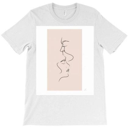 Love Line Art Illustration No1 T-shirt Designed By Almaidaart