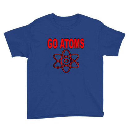 Blue White Atoms Science  T Shirt Youth Tee Designed By Goddesign