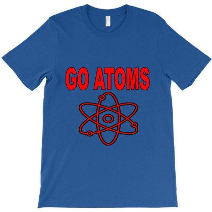 Blue White Atoms Science  T Shirt T-shirt Designed By Goddesign