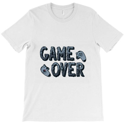 Game Over T-shirt Designed By Glitch Lamar