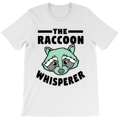Raccoon Whisperer Cute T-shirt Designed By Rosdiana Tees