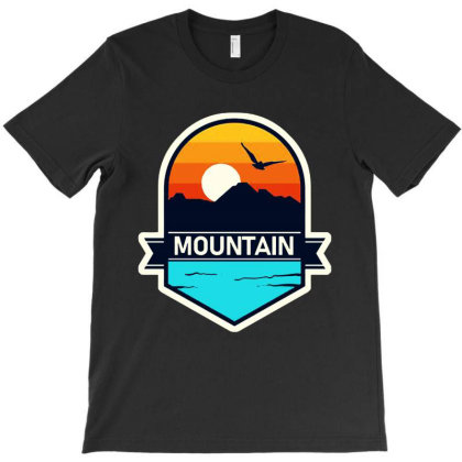 Retro Sunset And Mountain T-shirt Designed By Rosdiana Tees
