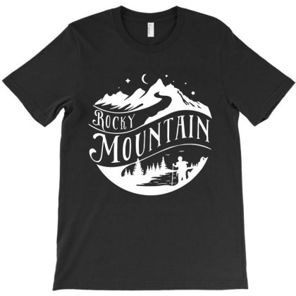 Rocky Mountain Hiking Hike Calling T-shirt Designed By Rosdiana Tees