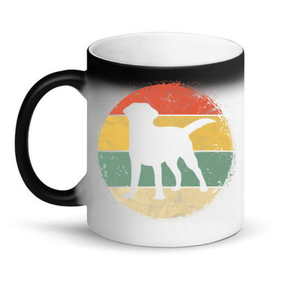 Circular Retro Labrador Owner Gift Golden Black Lab Dad Mom Magic Mug Designed By Koopshawneen