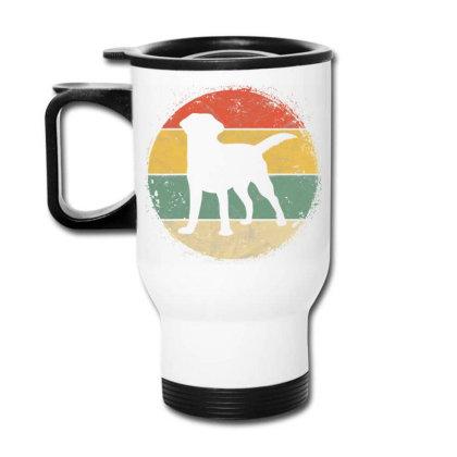 Circular Retro Labrador Owner Gift Golden Black Lab Dad Mom Travel Mug Designed By Koopshawneen