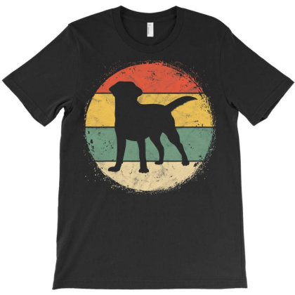 Circular Retro Labrador Owner Gift Golden Black Lab Dad Mom T-shirt Designed By Koopshawneen