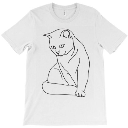 The Cat T-shirt Designed By Aymane11