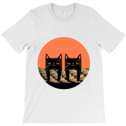 Two Cats Hanging T-shirt Designed By Tirssami