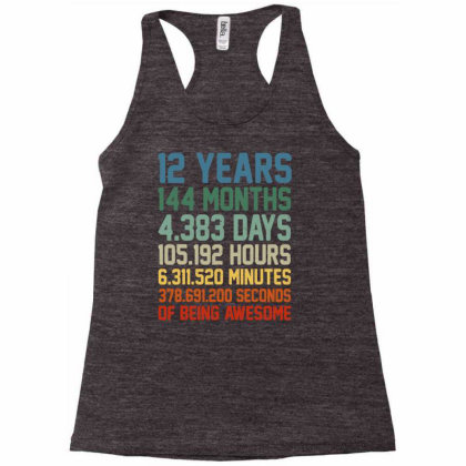 Vintage 12th Birthday Shirt Gift 12 Years Old Being Awesome T Shirt Racerback Tank Designed By New1915