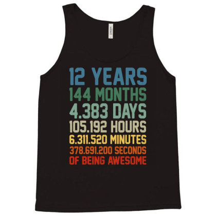 Vintage 12th Birthday Shirt Gift 12 Years Old Being Awesome T Shirt Tank Top Designed By New1915