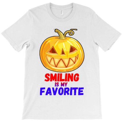 Smiling Is My Favorite Jackolantern T-shirt Designed By Rosdiana Tees