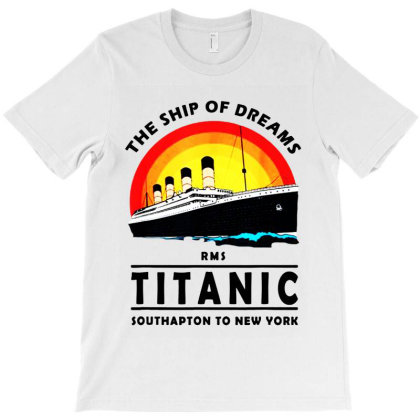 A 1912 Vintage Titanic Voyage Ship Cruise T-shirt Designed By Ainazee Tees