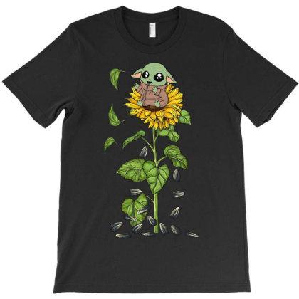Yoda Sunflower T-shirt Designed By Costom