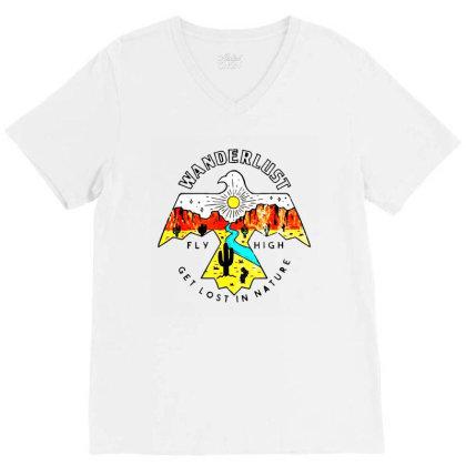 Arizona Wanderlust Thunderbird V-neck Tee Designed By Ainazee Tees