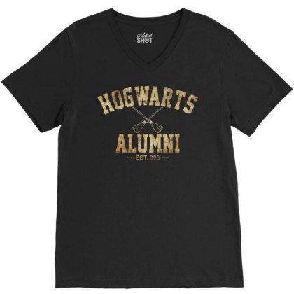 Hogwarts Alumni Est 993 V-neck Tee Designed By Funtee