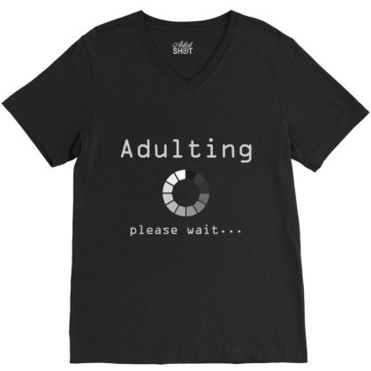 Adult 18th Birthday Gift Ideas For 18 Years Old Girls Boys T Shirt V-neck Tee Designed By Welcome12