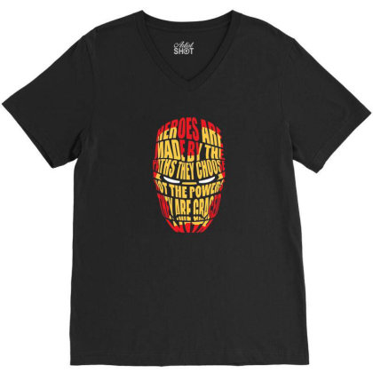 Heroes Are Made V-neck Tee Designed By Clatons