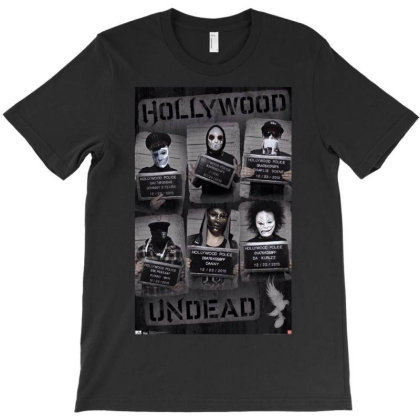 Hollywood Undead Wanted Poster T-shirt Designed By Funtee