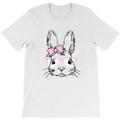 Easter Bunny With Glasses T-shirt Designed By Clatons