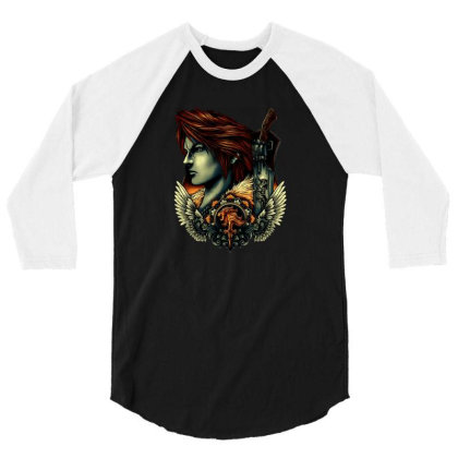 Emblem Of The Lion Heart 3/4 Sleeve Shirt Designed By Clatons