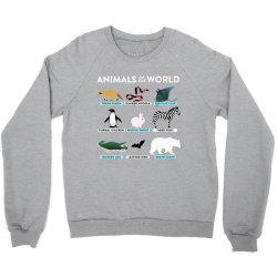 animals of the world the original t shirt Crewneck Sweatshirt | Artistshot