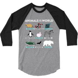 animals of the world the original t shirt 3/4 Sleeve Shirt | Artistshot