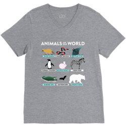 animals of the world the original t shirt V-Neck Tee | Artistshot