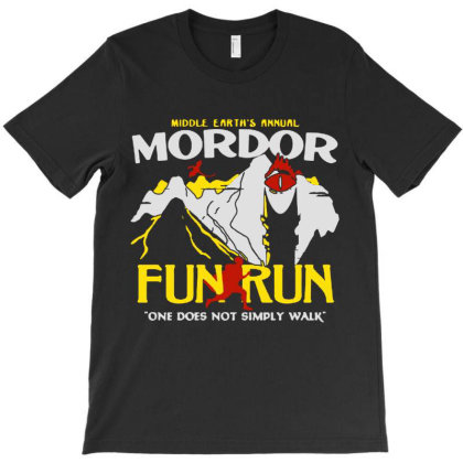 Mordor Fun Run T-shirt Designed By Blqs Apparel