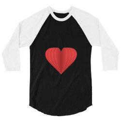 heart 3/4 Sleeve Shirt   Artistshot