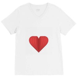 heart V-Neck Tee   Artistshot
