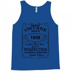 Birthday Gift Ideas for Men and Women was born 1958 Tank Top | Artistshot