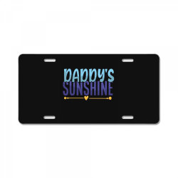 daddy's sunshine License Plate | Artistshot