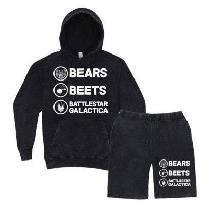 Bears Beets Battlestar Galactica Vintage Hoodie And Short Set Designed By Mirazjason