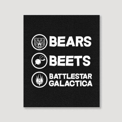 Bears Beets Battlestar Galactica Portrait Canvas Print Designed By Mirazjason